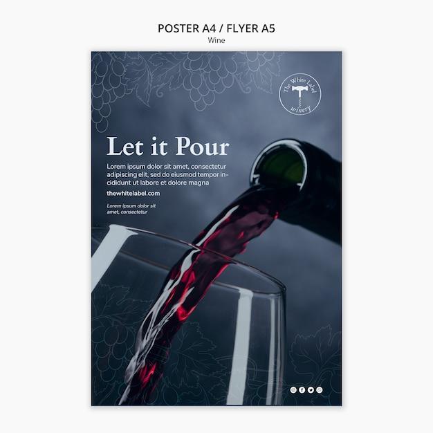 Wine shop template flyer Free Psd