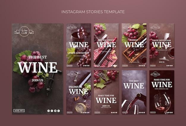 Wine tasting instagram stories template Free Psd