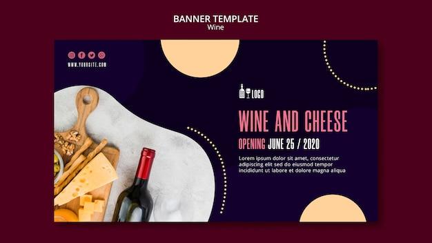 Modello di vino per tema banner Psd Gratuite