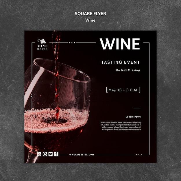 Modello di vino per il concetto di volantino Psd Gratuite