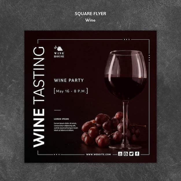 Modello di vino per volantino Psd Gratuite