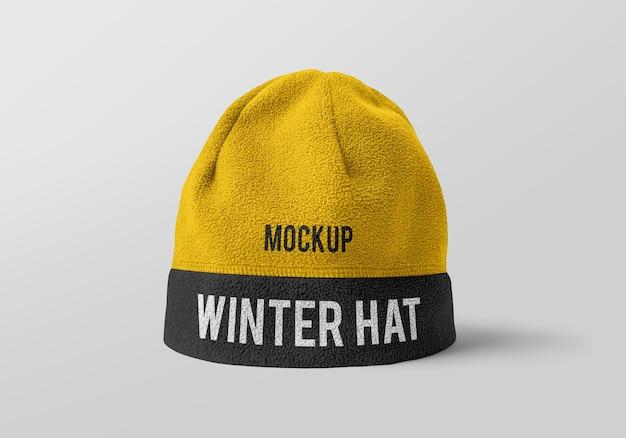 冬の帽子のモックアップデザイン Premium Psd