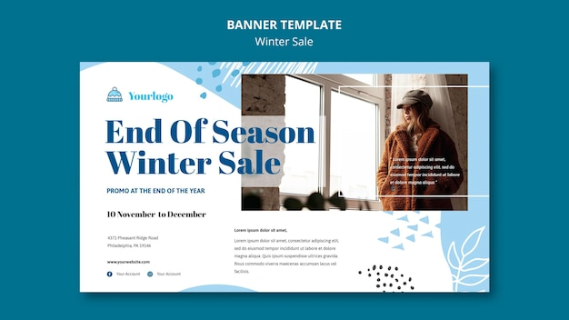 Winter sale collection banner template Free Psd
