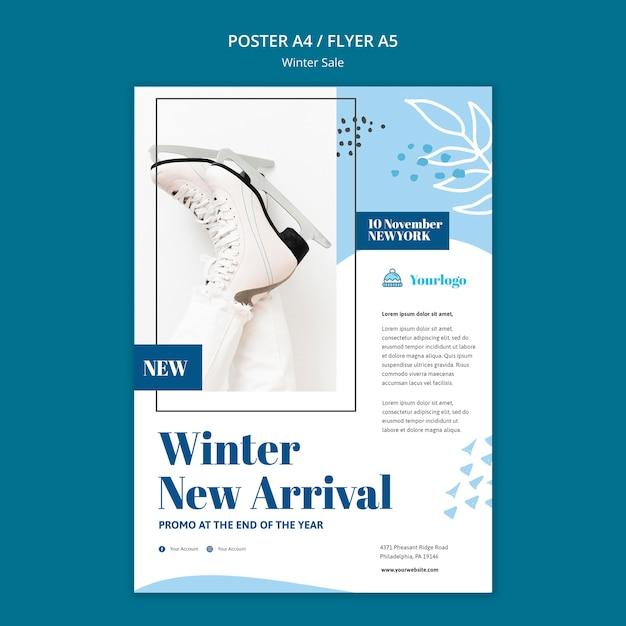 Modello di poster collezione vendita invernale Psd Gratuite