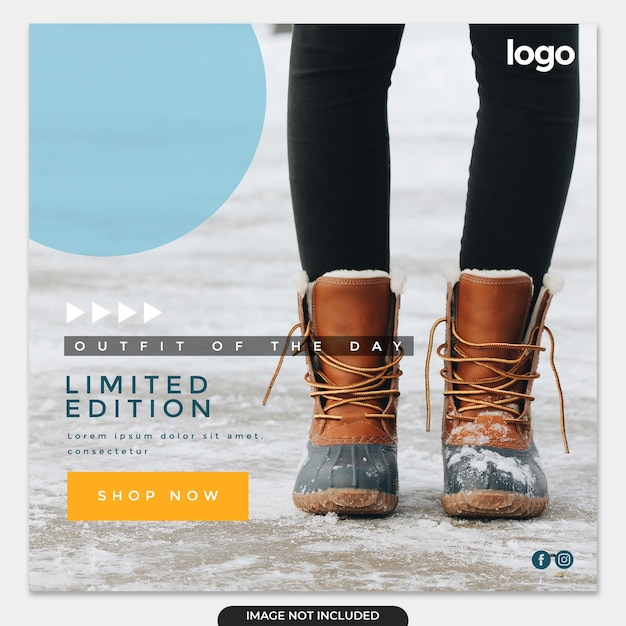 Winter sale instagram post template Premium Psd