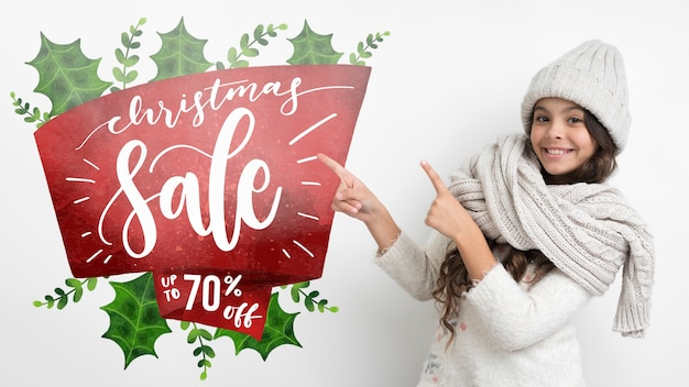 Winter shopping season with special offers Free Psd