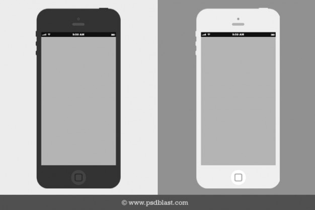 Wireframe flat iPhone mockup PSD PSD file | Free Download