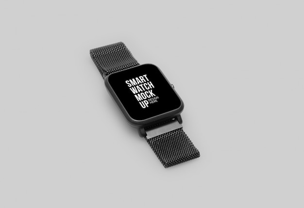 Wireless smart watch with screen mockup Premium Psd