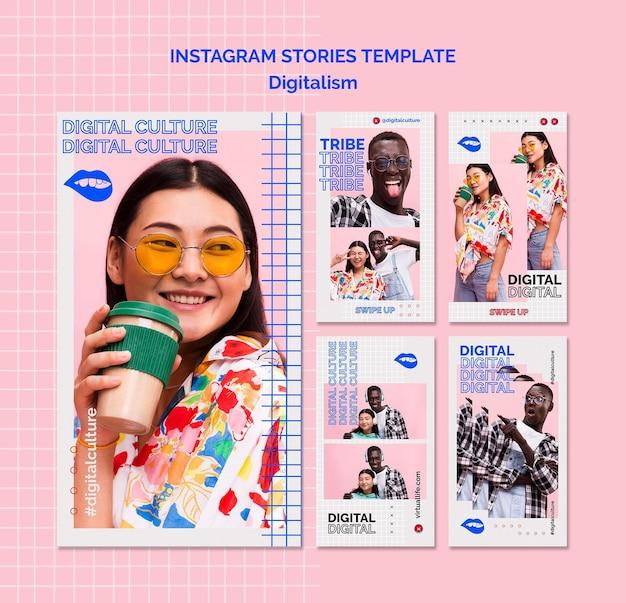 Шаблон рассказов instagram о женщинах и мужчинах Premium Psd