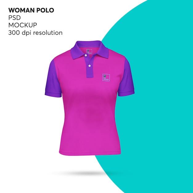 Женщина поло макет Premium Psd