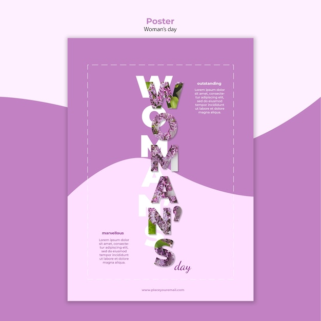 女性の日ポスターテンプレートデザイン 無料 Psd
