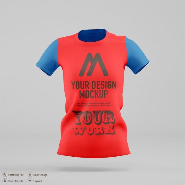 고립 된 여자 티셔츠 이랑 디자인 프리미엄 PSD 파일