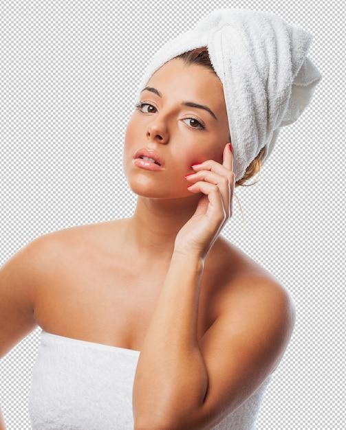 Woman taking a spa treatment Premium Psd