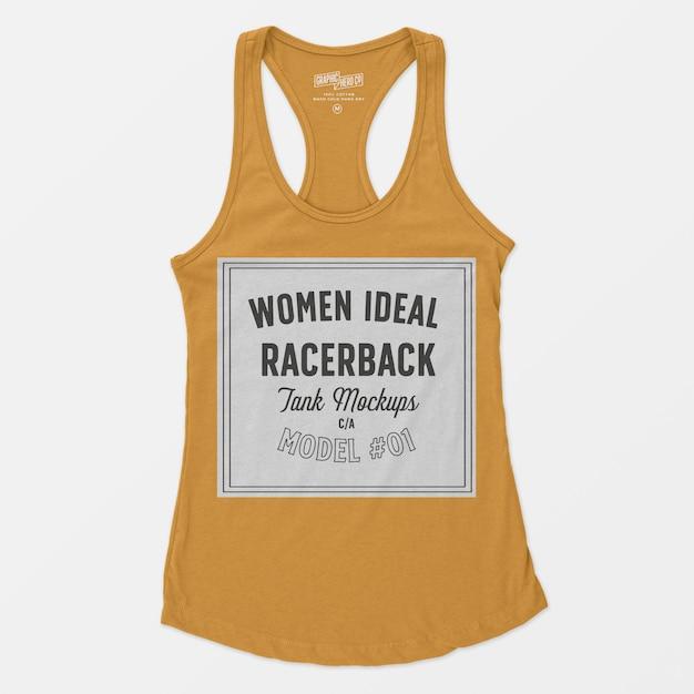 Women ideal racerback tank mockup Free Psd