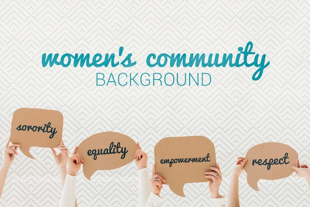Women's community background concept Free Psd