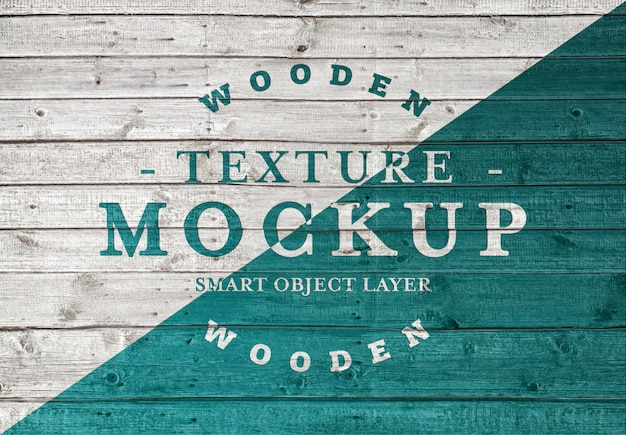 Wood plank texture mockup Premium Psd