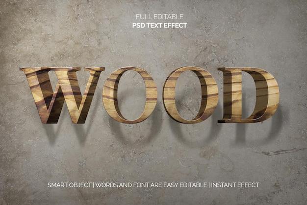 Effetto testo in legno Psd Gratuite