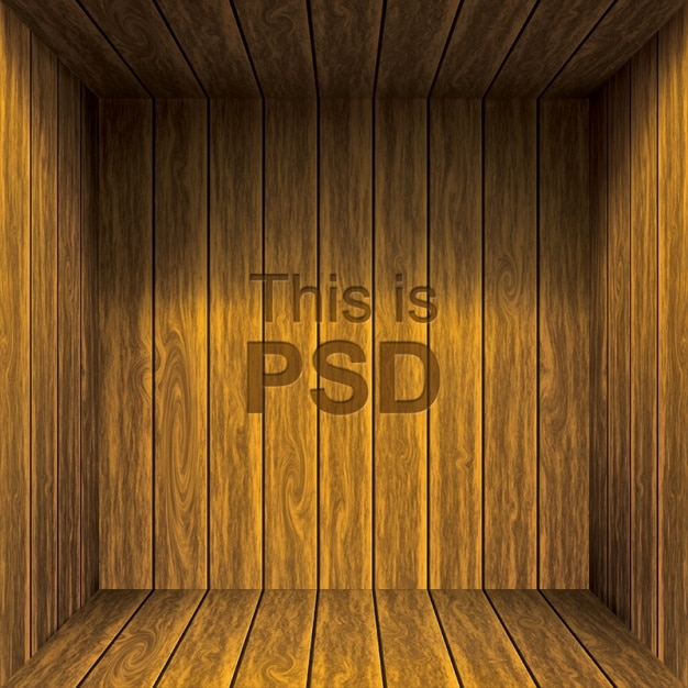 Wooden background design Free Psd