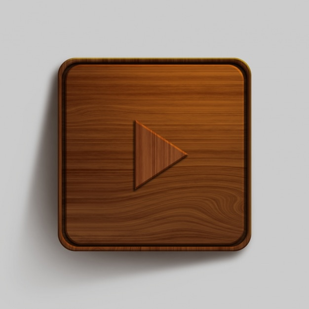 Wooden button design Free Psd