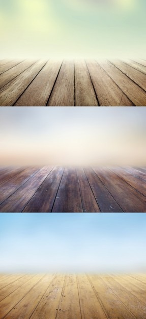 Wooden floors backgrounds with blurs Free Psd
