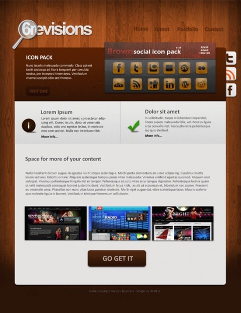 wooden portfolio template psd file free download