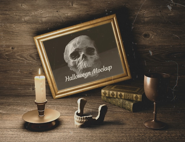 Wooden rustic decor with gothic elements Free Psd