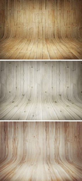 Wooden stages curve backgrounds Free Psd