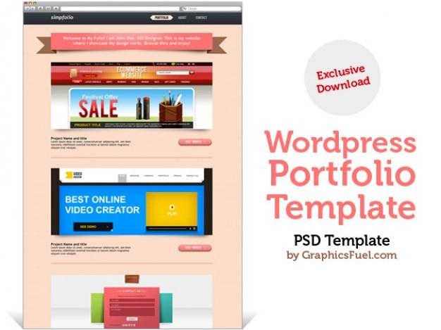 wordpress portfolio psd template psd file free download. Black Bedroom Furniture Sets. Home Design Ideas