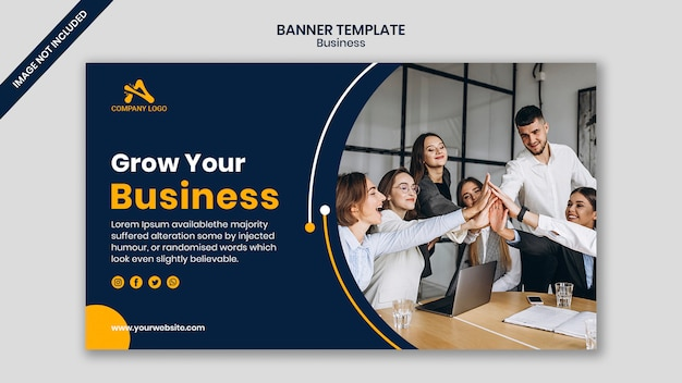 Work meeting business conference banner template Premium Psd