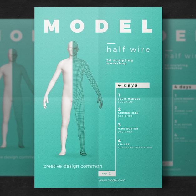 Workshop Flyer Template Psd File  Free Download