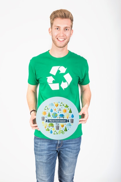 World environment day mockup Premium Psd