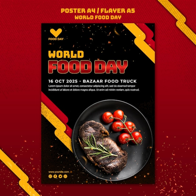 World food day template poster Free Psd