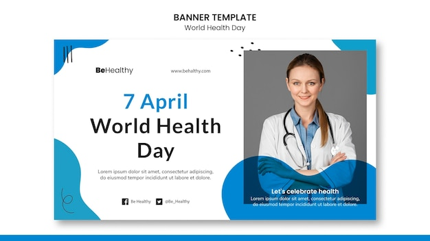 세계 보건의 날 배너 서식 파일 무료 PSD 파일