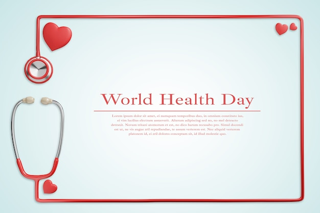 Макет всемирного дня здоровья, здравоохранения и медицинской концепции Premium Psd