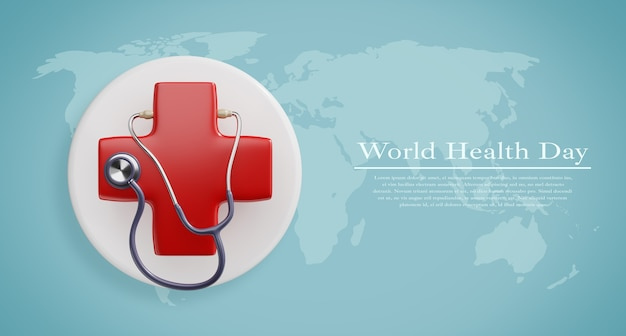World health day, healthcare and medical concept mockup Premium Psd