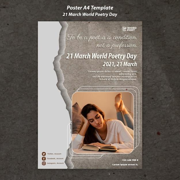 세계시의 날 포스터 무료 PSD 파일