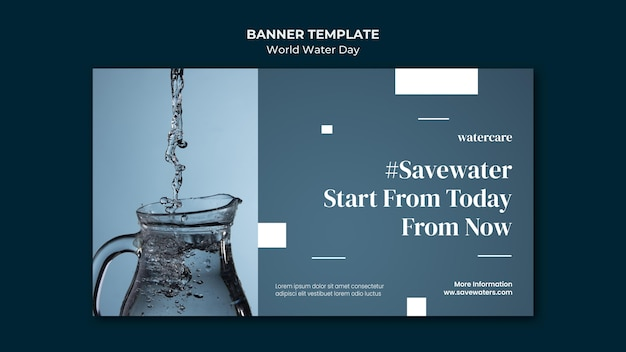 World water day banner template Free Psd
