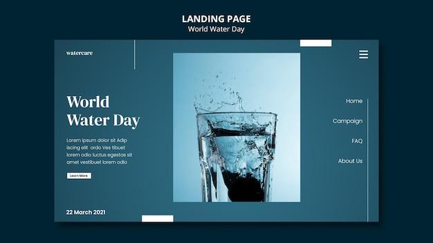World water day landing page Premium Psd