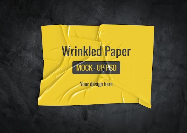 [Image: wrinkled-paper-mockup-dark-surface_35913-1789.jpg]