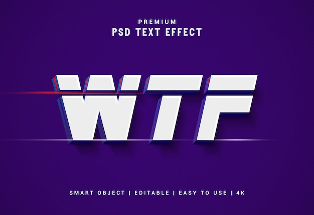 Wtf премиум генератор текстовых эффектов Premium Psd