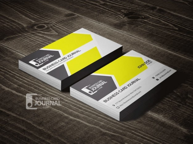 Yellow Business Card Template PSD File Free Download - Business card psd template download