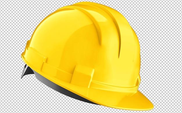 Желтая каска строительный шлем изолированные Premium Psd