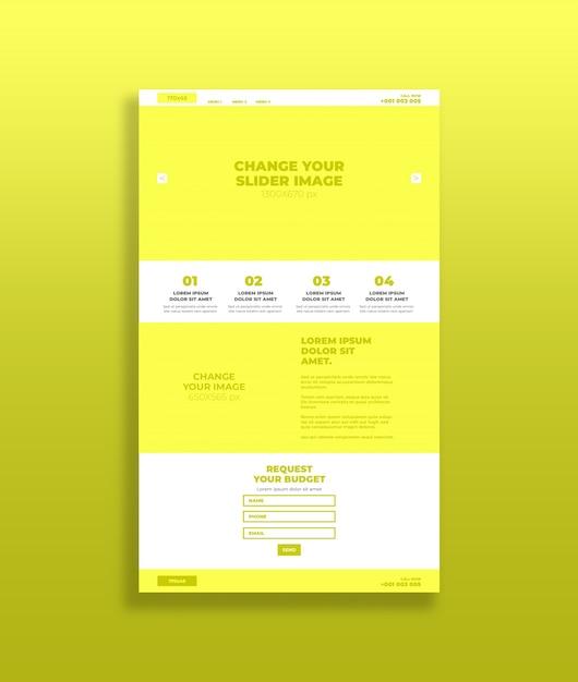 yellow landing page mockup 15879 11