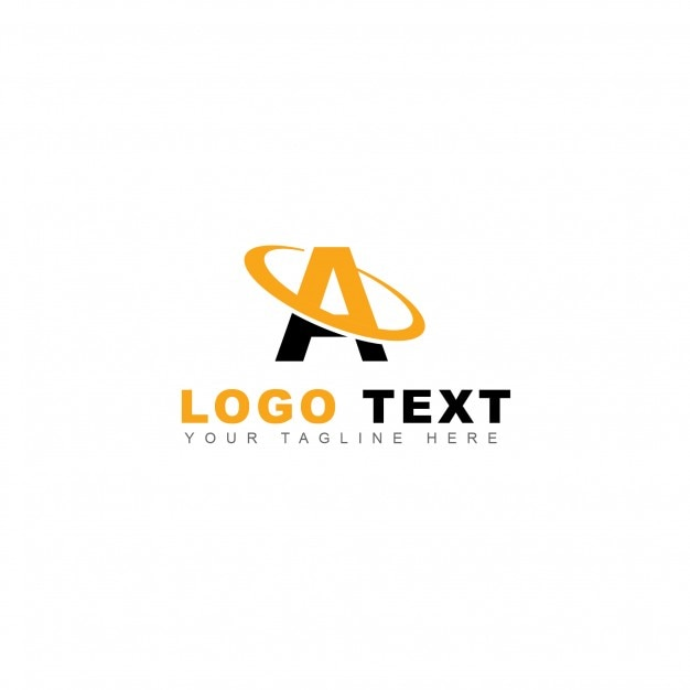 Yellow letter a logo Free Psd