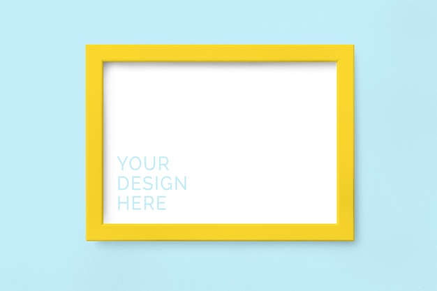 Yellow picture frame mockup Premium Psd