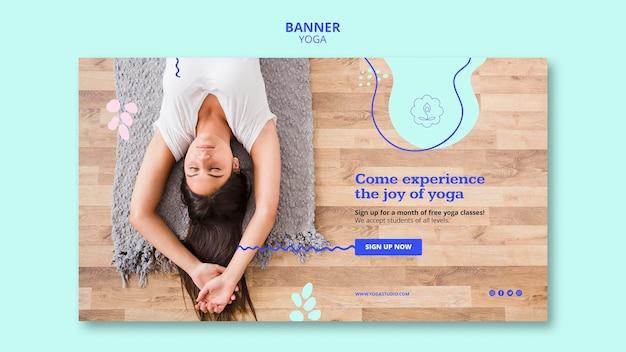 Modello di banner pubblicitario di yoga Psd Gratuite