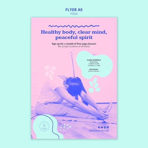 Modello di volantino pubblicitario di yoga Psd Gratuite