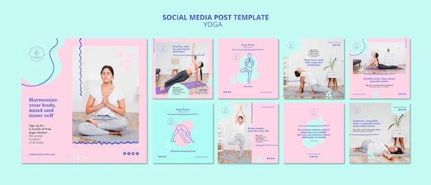 Modello di post instagram annuncio yoga Psd Gratuite