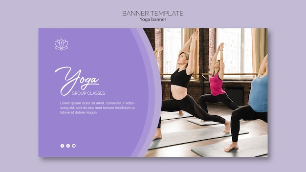 Yoga Banner Template Free Psd File