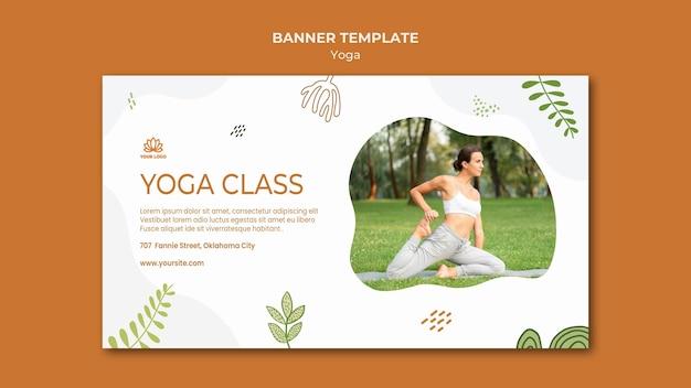 Yoga body balance banner template Free Psd